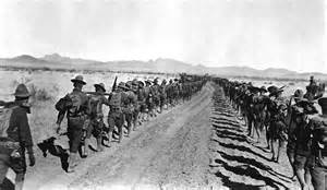 Boots on the ground for a long march deep into Mexico in 1916.