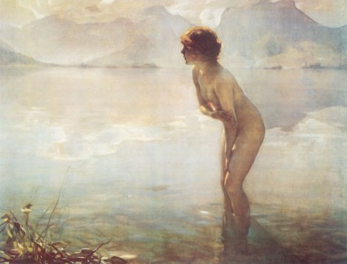 Nellie bought a print of September Morning, Paul Emile Chablas about 35 years ago.